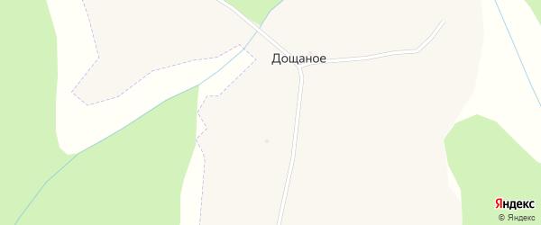 Лесной переулок на карте поселка Дощаного с номерами домов