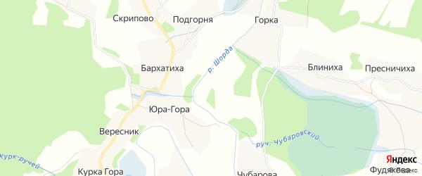 Карта Церковного села в Архангельской области с улицами и номерами домов