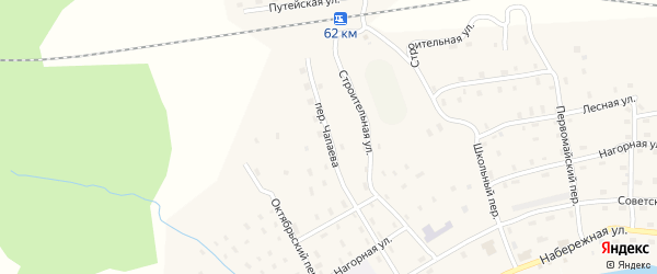 Переулок Чапаева на карте Солгинский поселка с номерами домов