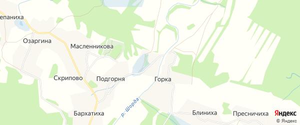 Карта деревни Креково в Архангельской области с улицами и номерами домов
