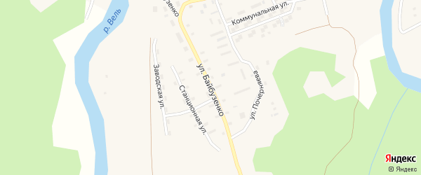Улица Байбузенко на карте Солгинский поселка с номерами домов