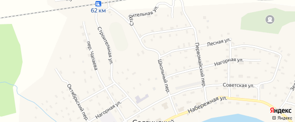 Строительная улица на карте Солгинский поселка с номерами домов