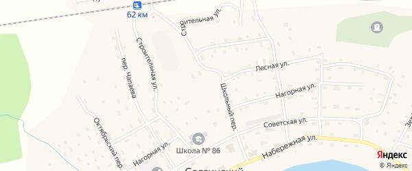 Советская улица на карте Солгинский поселка с номерами домов