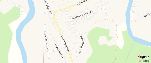 Улица Почерняева на карте Солгинский поселка с номерами домов