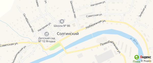 Заводская улица на карте Солгинский поселка с номерами домов