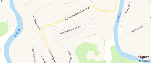 Коммунальная улица на карте Солгинский поселка с номерами домов