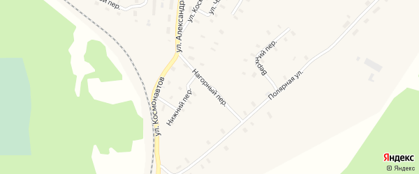 Нижний переулок на карте поселка Усть-Шоноши с номерами домов