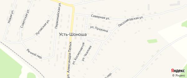 Садовая улица на карте поселка Усть-Шоноши с номерами домов