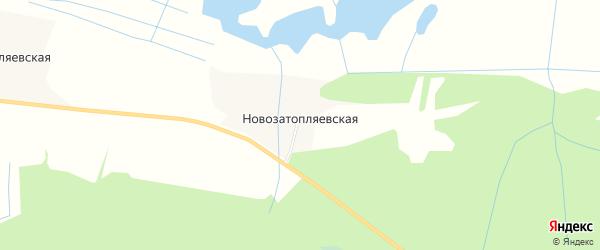 Карта Новозатопляевской деревни в Архангельской области с улицами и номерами домов