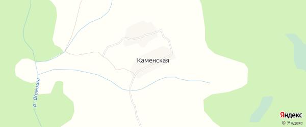 Карта Каменской деревни в Архангельской области с улицами и номерами домов