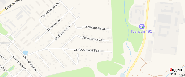 Рябиновая улица на карте Касимова с номерами домов