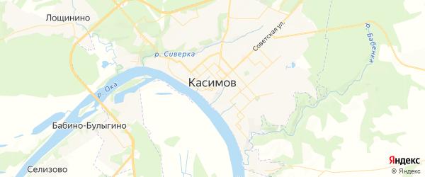 Карта Касимова с районами, улицами и номерами домов: Касимов на карте России