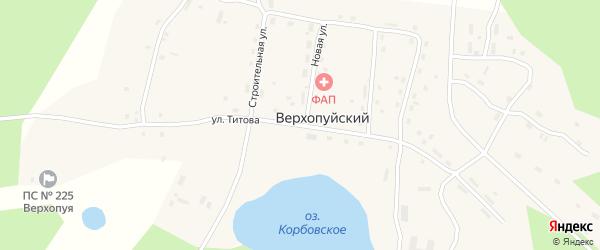 Улица Титова на карте Верхопуйского поселка с номерами домов