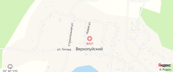 Новая улица на карте Верхопуйского поселка с номерами домов