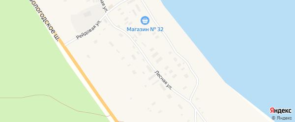 Лесной переулок на карте поселка Брина-Наволока с номерами домов