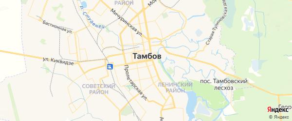 Карта Тамбова с районами, улицами и номерами домов