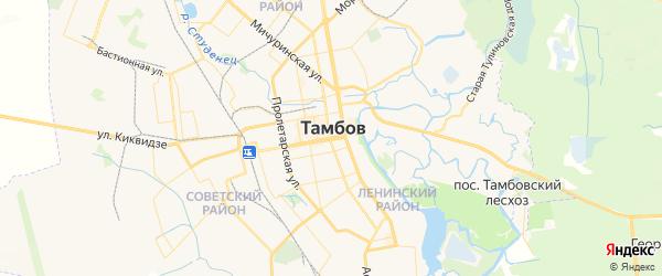 Карта Тамбова с районами, улицами и номерами домов: Тамбов на карте России