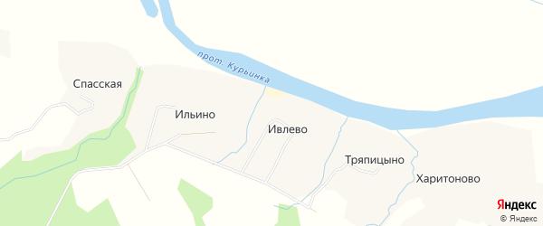 Карта деревни Ивлево в Архангельской области с улицами и номерами домов