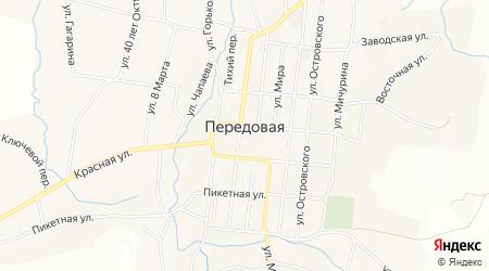Карта станицы Передовая в Краснодарском крае