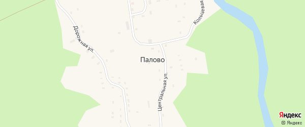 Дачная улица на карте поселка Палово с номерами домов
