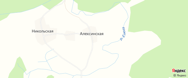 Карта Портновской деревни в Архангельской области с улицами и номерами домов