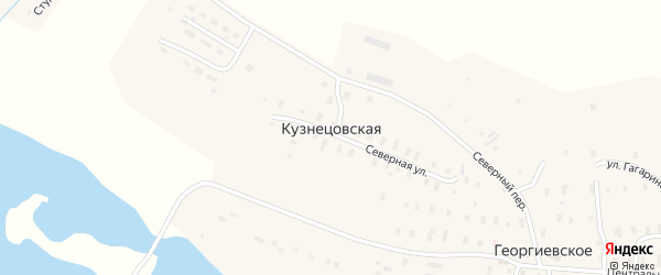 Молодежная улица на карте Кузнецовской деревни с номерами домов