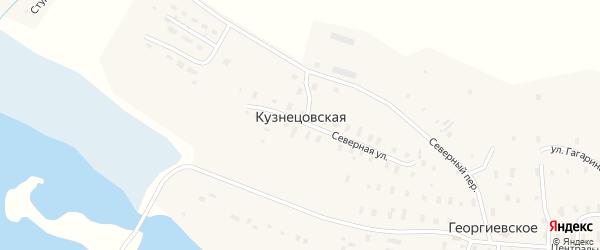 Студенческая улица на карте Кузнецовской деревни с номерами домов