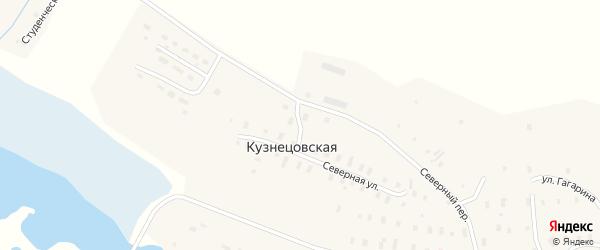 Переулок Гагарина на карте Кузнецовской деревни с номерами домов
