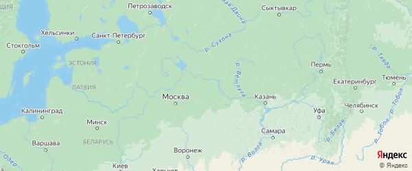 Карта Ивановской области с городами и районами