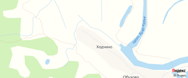 Карта деревни Ходчино в Архангельской области с улицами и номерами домов
