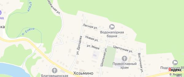Новая улица на карте поселка Хозьмино с номерами домов