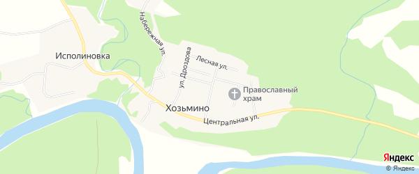 Карта поселка Хозьмино в Архангельской области с улицами и номерами домов