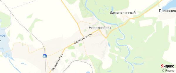 Карта Новохоперска с районами, улицами и номерами домов