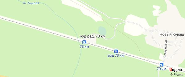 Карта железнодорожного разъезда 78 км в Архангельской области с улицами и номерами домов
