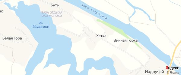 Карта деревни Хетки в Архангельской области с улицами и номерами домов