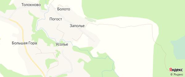 Карта деревни Малой Горы в Архангельской области с улицами и номерами домов