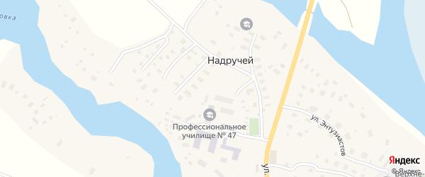 Студенческая улица на карте деревни Надручья с номерами домов