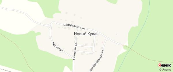 Лесная улица на карте поселка Нового Куваша с номерами домов