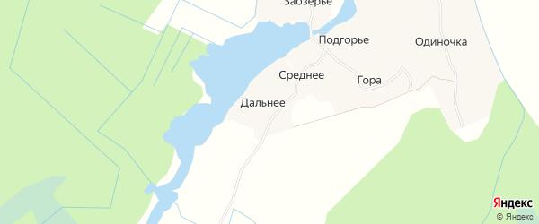 Карта деревни Среднего в Архангельской области с улицами и номерами домов