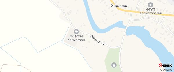 Улица Ветеранов на карте деревни Харлово с номерами домов