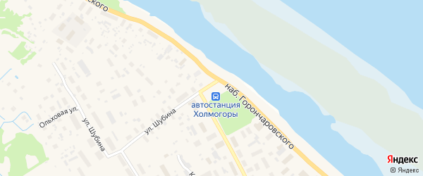 Площадь Морозова на карте села Холмогор с номерами домов