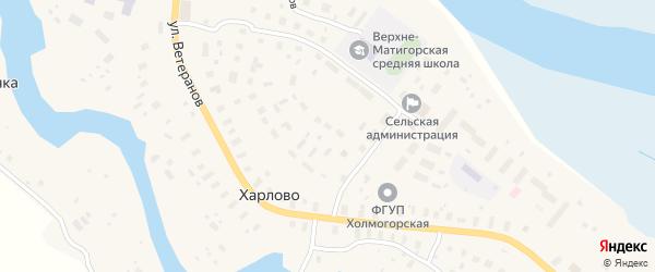 Улица им А.Д.Шиловского на карте деревни Харлово с номерами домов