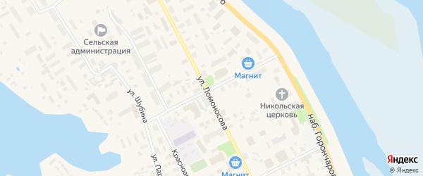 Улица Галушина на карте села Холмогор с номерами домов