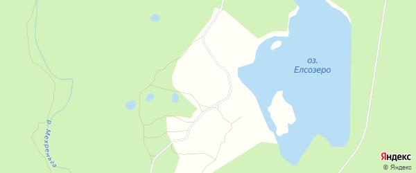 Карта поселка Елсозера в Архангельской области с улицами и номерами домов