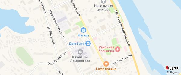 Шоссейная улица на карте села Холмогор с номерами домов
