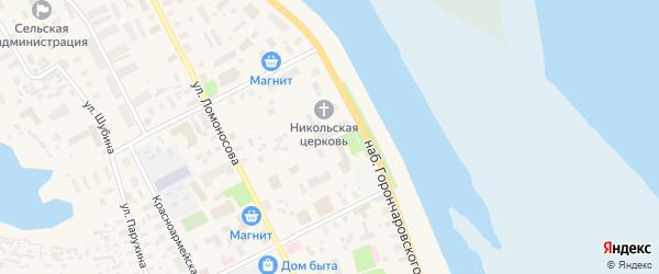 Улица Песошникова на карте села Холмогор с номерами домов