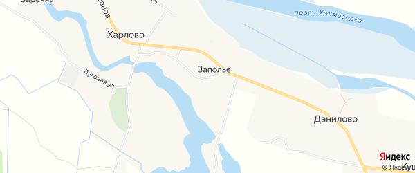 Карта деревни Запольица в Архангельской области с улицами и номерами домов