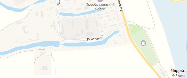 Полевая улица на карте села Холмогор с номерами домов