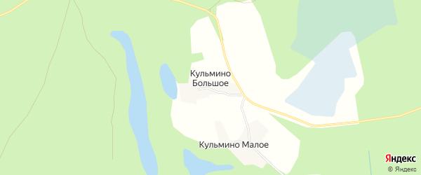 Карта деревни Кульмино Большое в Архангельской области с улицами и номерами домов