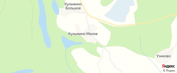 Карта деревни Кульмина Малого в Архангельской области с улицами и номерами домов